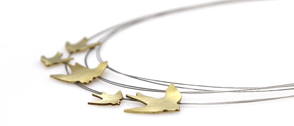 Naszyjnik złote jaskółki