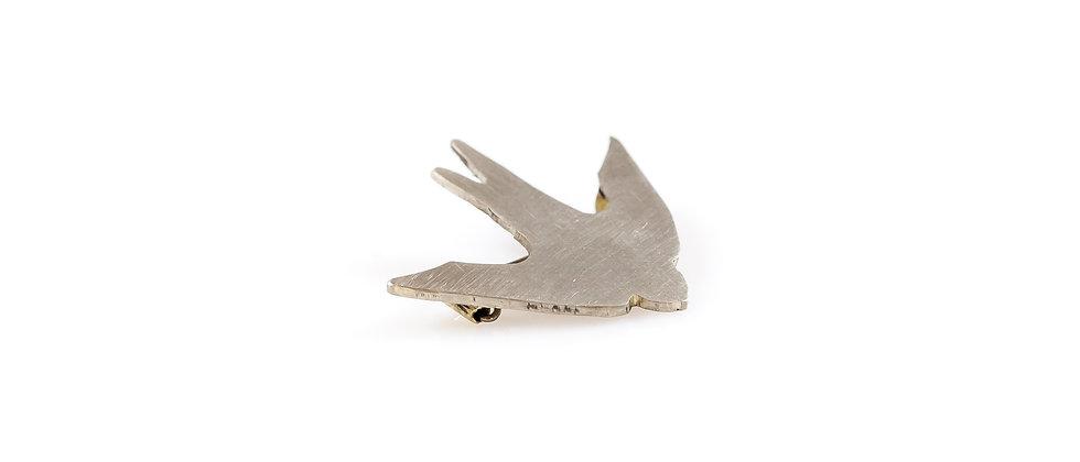 Broszka srebrna jaskółka (mała)