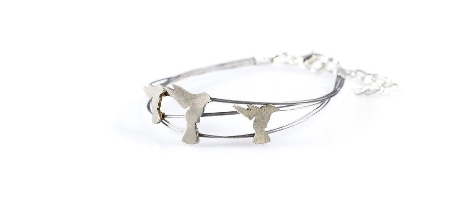 Bransoletka srebrne kolibry
