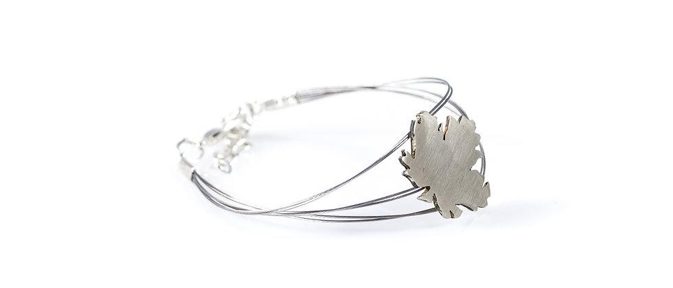 Bransoletka srebrny liść klonu