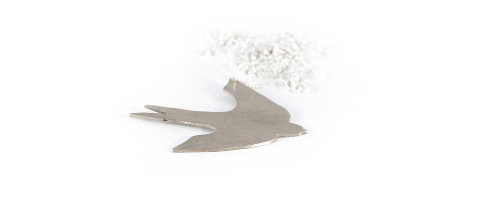 Wisior srebrna jaskółka