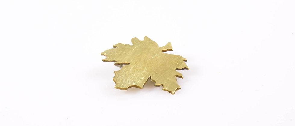 Broszka złoty liść klonu (mała)