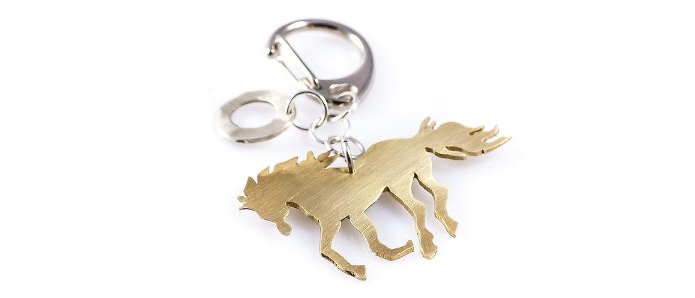 Brelok ze złotym koniem