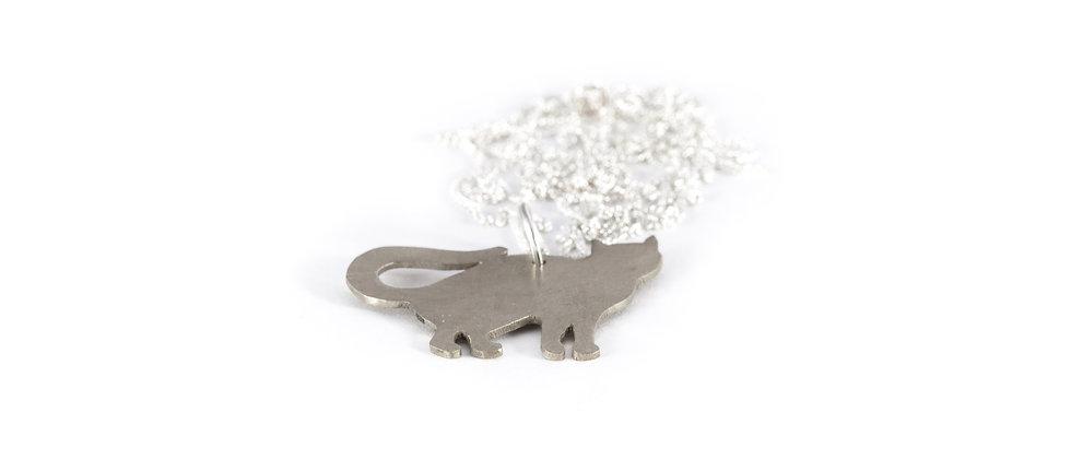 Wisior srebrny kot