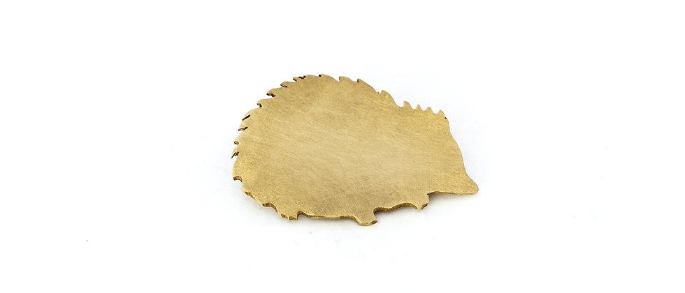 Broszka złoty jeż