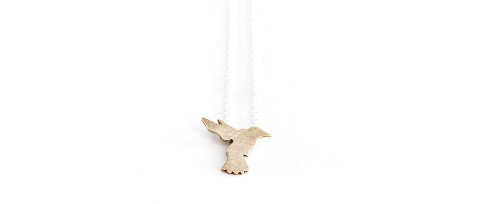 Łańcuszek ze złotym koliberkiem