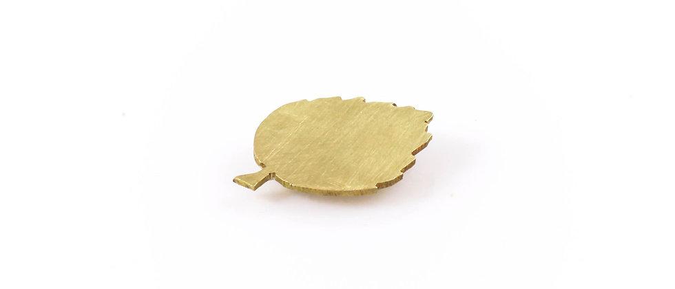 Broszka złoty liść lipy (mała)