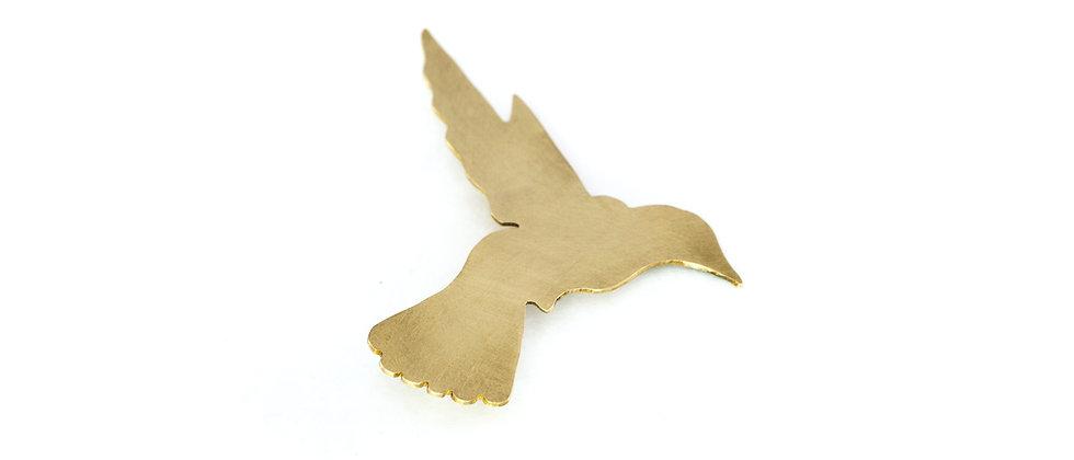 Broszka złoty koliber