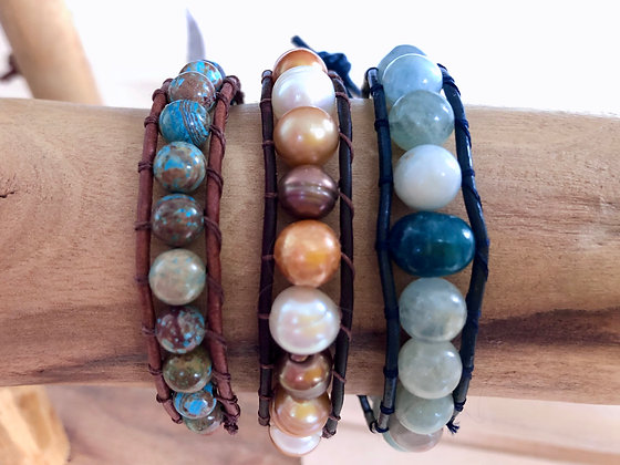 Gemstone Single Wrap Bracelet