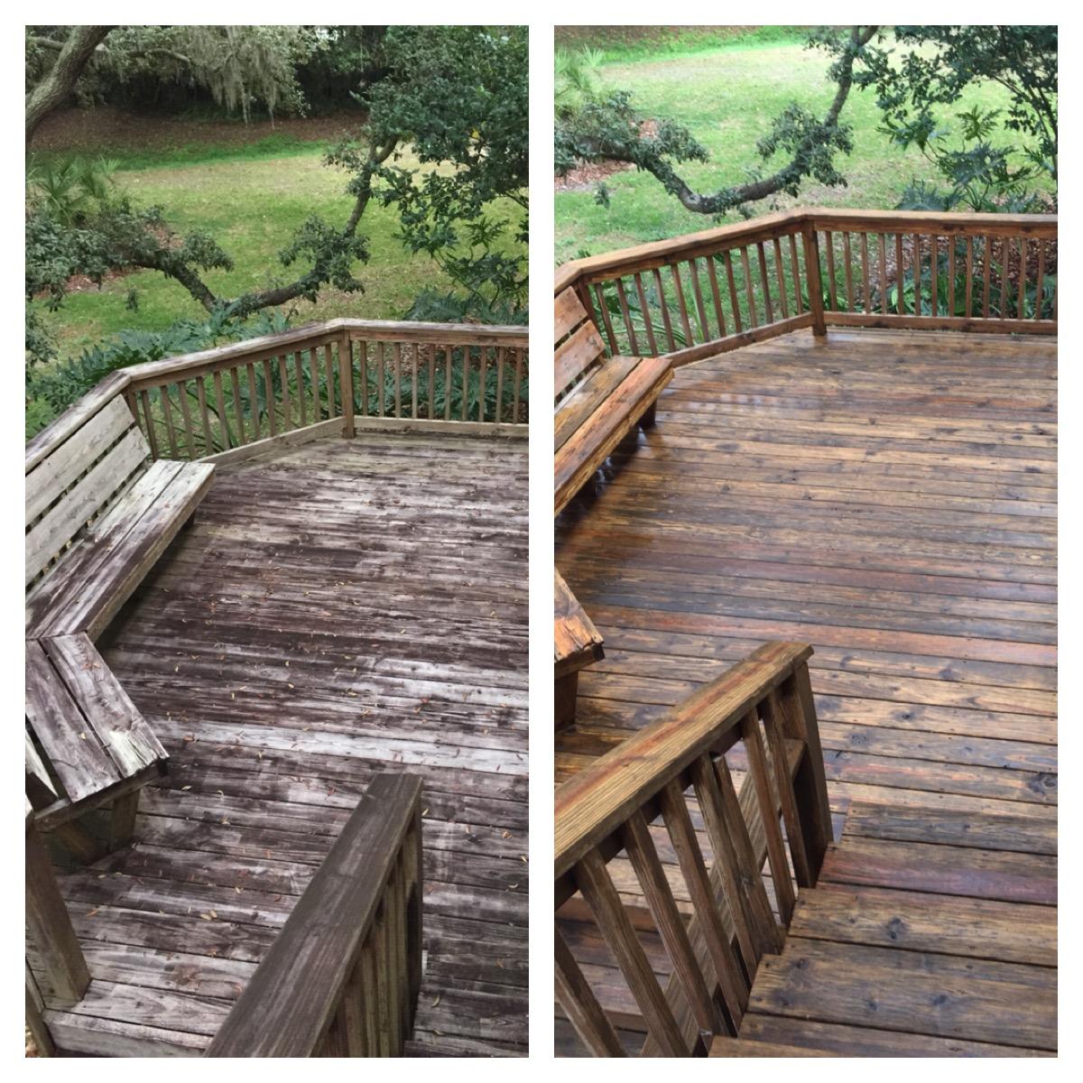 tampa pressure washing wood decks www.tampabaypressurewashingservice.com