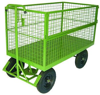 Carro Gaiola Pneumático 5ª Roda - Capacidade 500kg (Tela)
