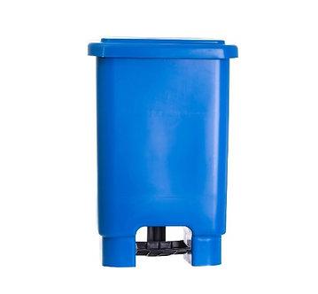 Lixeira De Plástico 100L - AZUL C/ Pedal + Haste + Aro
