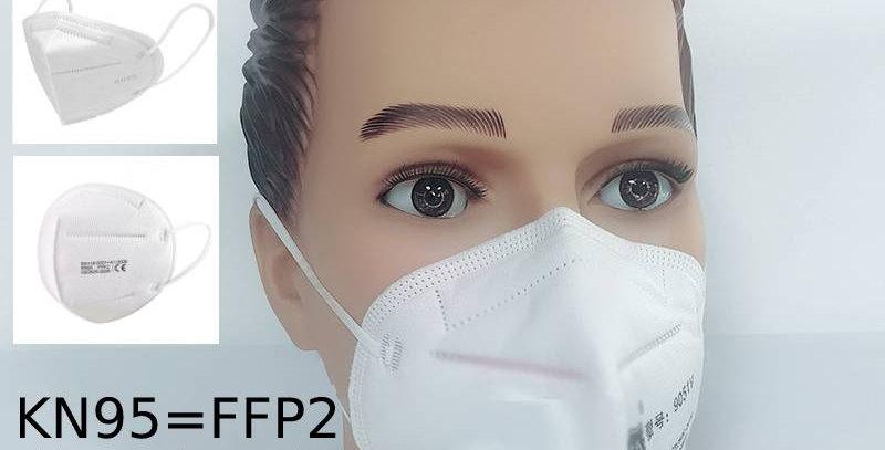 5 piece bundle Face Mask KN95 = FFP2 without respirator filter valve CE approved