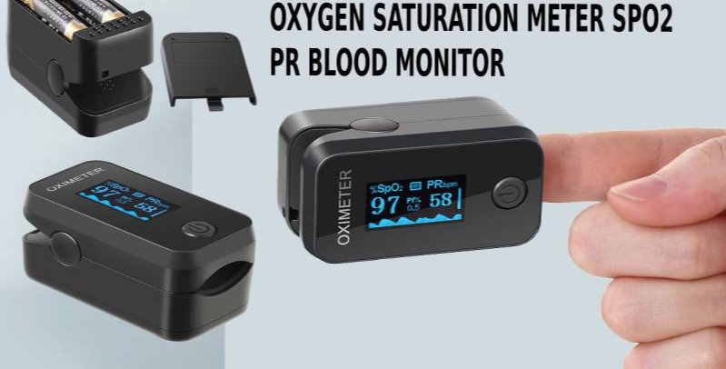 Oximeter OLED Fingertip Pulse Oxygen Saturation Meter SPO2 PR Blood Monitor.CE