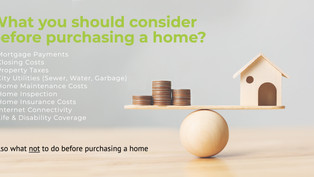 What you should consider before purchasing a home?