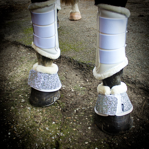 Bell Boots White Sparkle