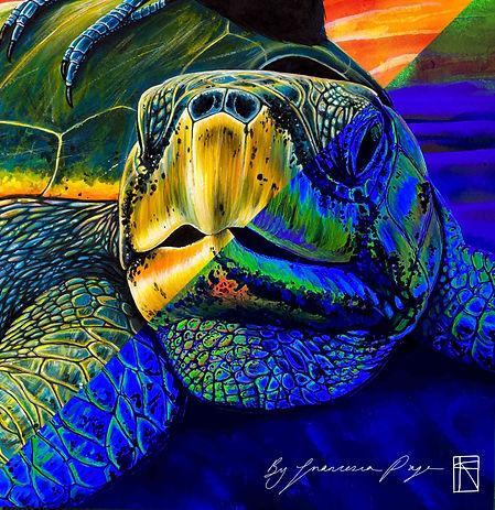 Pura Vida Glow Turtle