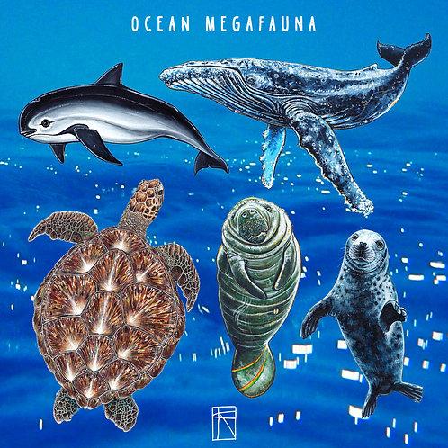 Ocean Megafauna Sticker Pack