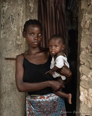 Mother and son portrait, Kenya