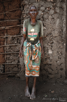 Old woman portrait, Kenya