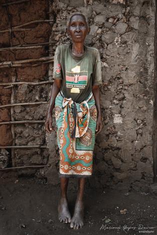 Old woman portrait, Kenya