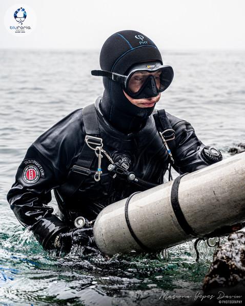 Daniele Pontis, tech diving, sidemount d