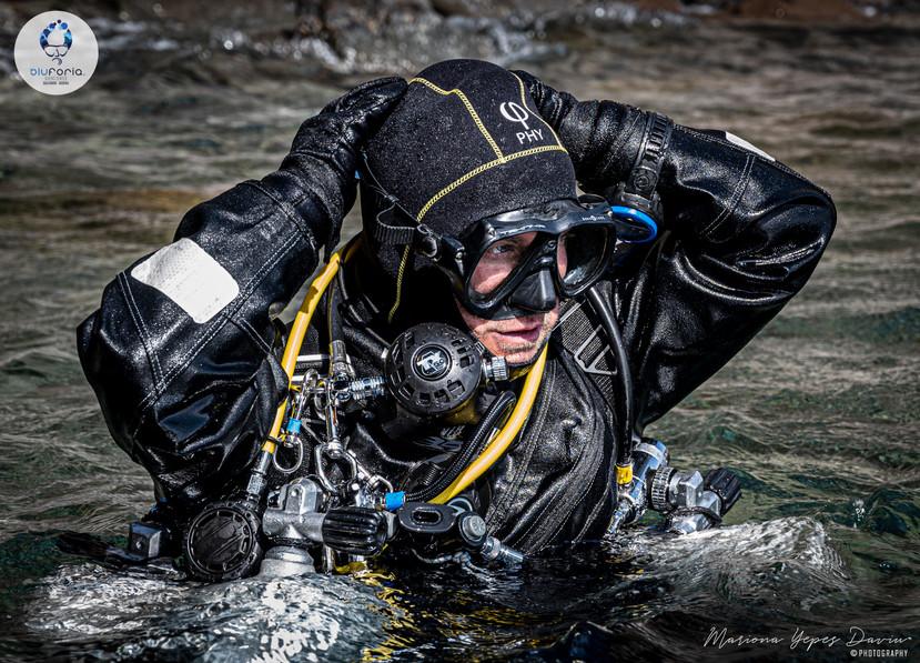 Gabriele Pettinelli, tech diving, sidemo
