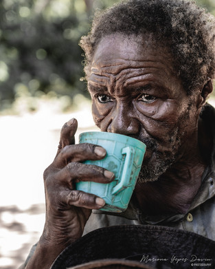 Old man portrait, Kenya