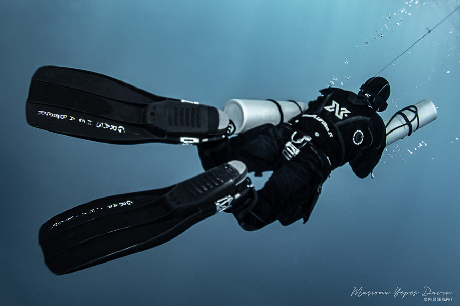 Daniele Pontis, tech diving, Cala Gonone