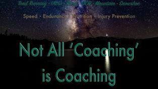 Not all 'Coaching' is Coaching