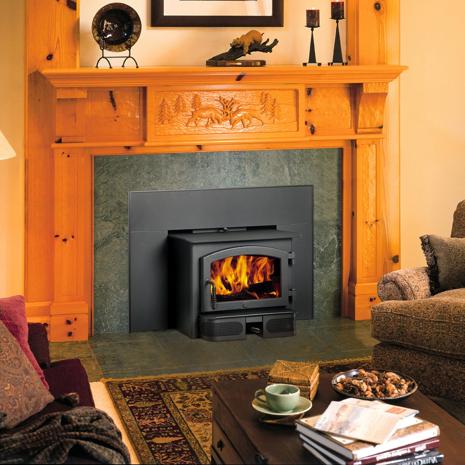 Wood Fireplace Insert With Blower ~ dact.us