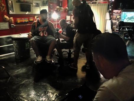 Tattoo artist in the Heat Nation video