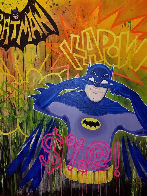 KAPOW BATDANCE ADAM WEST BATMAN by Eddie Ponz