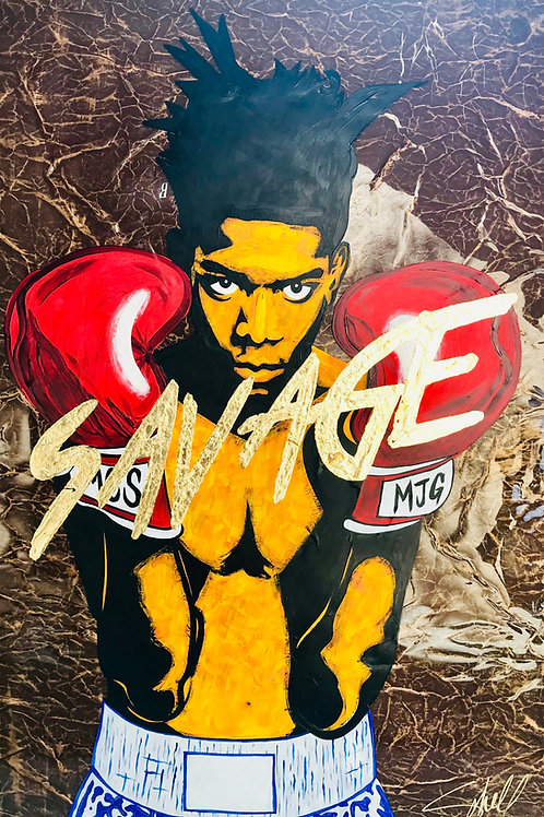 SAVAGE (BASQUIAT), 2019 by Chris Scholl