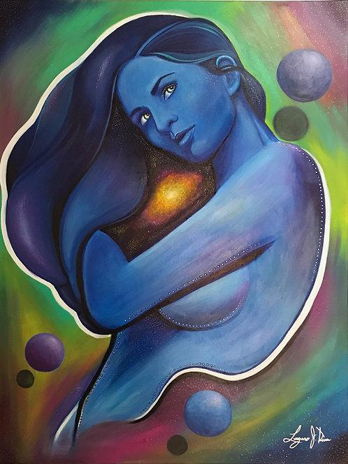 BLUE GIRL by Laz Rivera