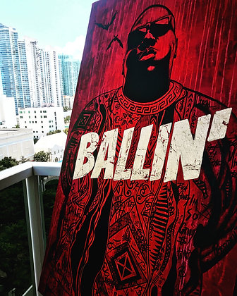 BALLIN' (BIGGIE), 2019 by Chris Scholl