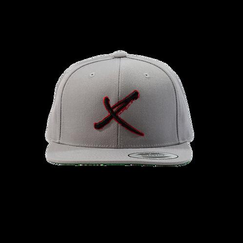 Gray X Snapback Hat