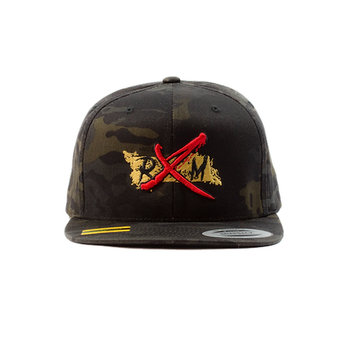 Multi Camo Gold RXM Snapback Hat