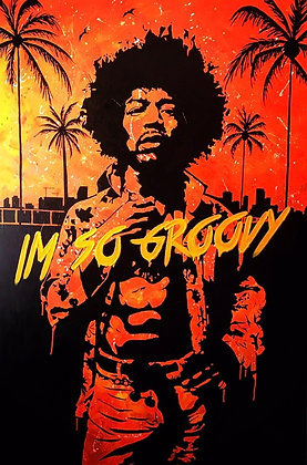 I'M SO GROOVY (JIMI), 2016 by Chris Scholl