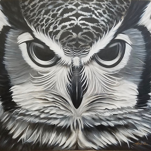 BLACK AND GREY OWL by Laz Rivera