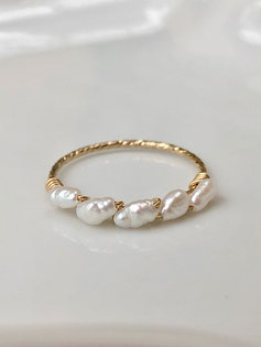 Félice Ring(14ct Gold filled)