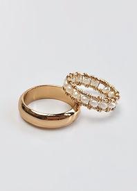 Gold filled pearl ring joyaux design
