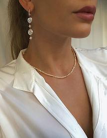 Pearl gold filled necklace joyaux design