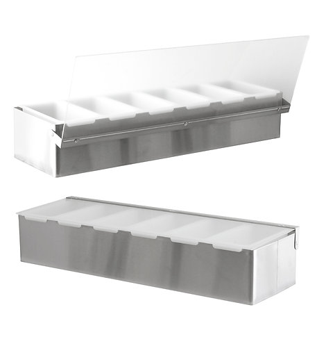 STAINLESS STEEL CONDIMENT HOLDER