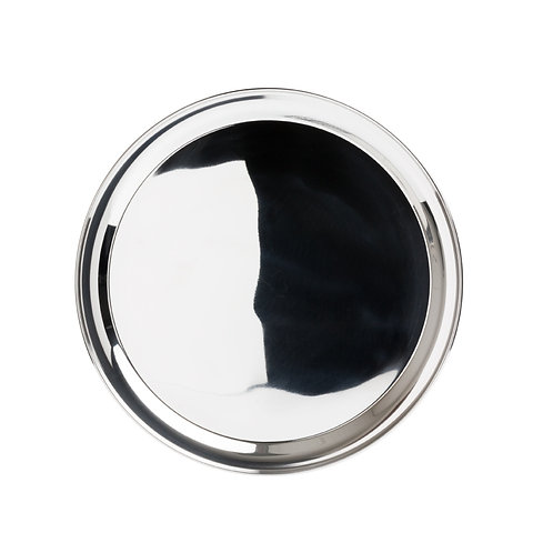 """16"""" Round Stainless Steel Tray"""