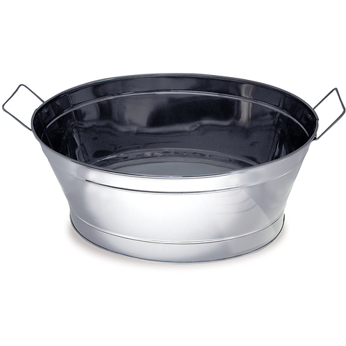Large Oval Ice Tub - Stainless Steel