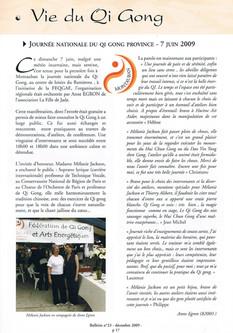 Bulletin FEQGAE n23 (2009)