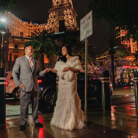 雨の中の夜ストリップ撮影 ハワイからのお客様