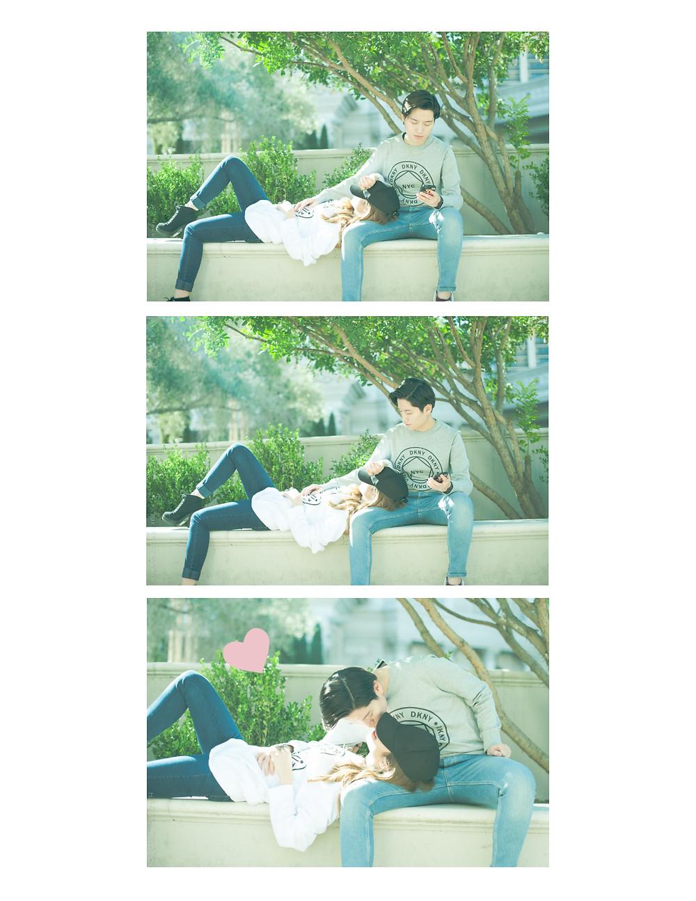 hazukiphotography_lasvegas_lesbiancouple_cute_taiwan_american_kiss_manga