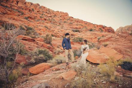 ラスベガス砂漠ウェディングフォト